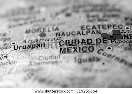 Map view of Ciudad de Mexico, Mexico.  - stock photo