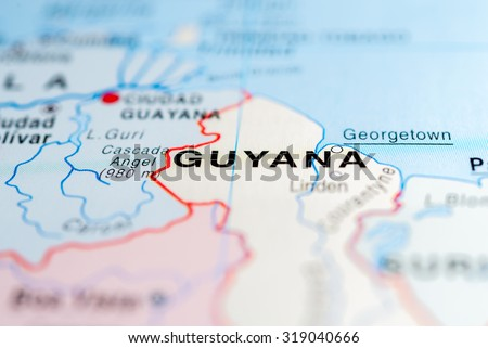 Map View Georgetown Guyana Stock Photo Download Now Royalty Free