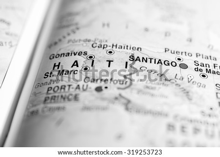 Haiti pin on map stock images royalty free images vectors map view of haiti state central america sciox Choice Image