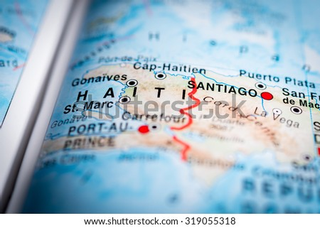 Haiti pin on map stock images royalty free images vectors map view of haiti state central america vignette sciox Choice Image