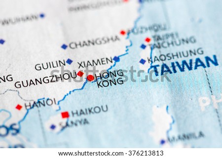 Map view hong kong on geographical stock photo edit now shutterstock map view of hong kong on a geographical map of asia gumiabroncs Images