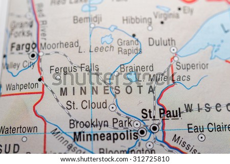Map view of Minnesota State