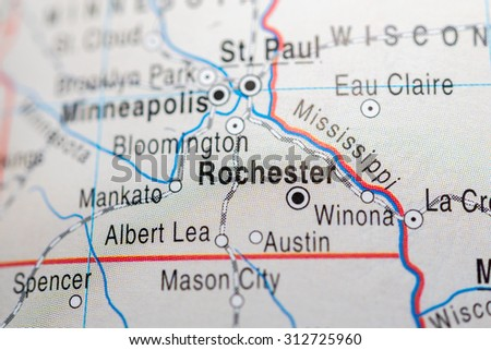 Map view of Rochester