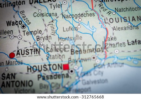 Map view of Waco  - stock photo