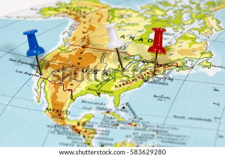 Map Pin Point Los Angeles Chicago Stock Photo Safe to Use Royalty