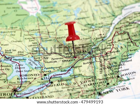 Map pin point ottawa canada stock photo image royalty free map with pin point of ottawa in canada gumiabroncs Gallery