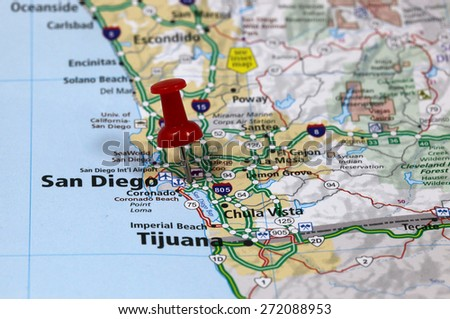 San Diego Map Stock Images RoyaltyFree Images Vectors - San diego on us map