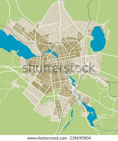 Map Yekaterinburg city
