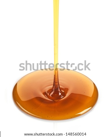 Maple syrup isolated on a white background - stock photo