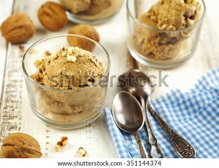 Maple walnut ice cream - stock photo