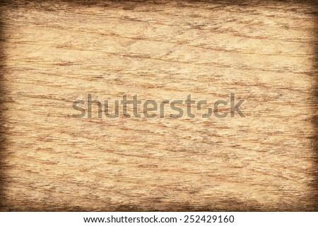 Maple Wood Veneer Yellow Ocher bleached, mottled, vignette, grunge texture sample. - stock photo