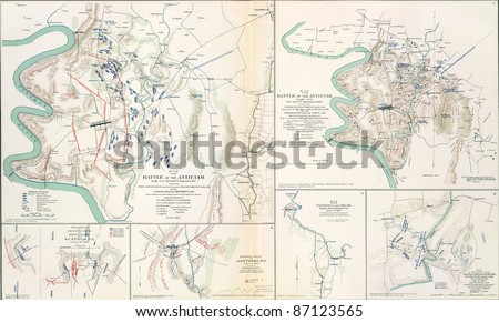 Maps Of The Battlefield Of Antietam 1862 From Atlas To Accompany The Official Records Of