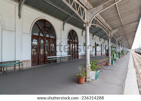 Maputo Railway Station is one of the top ten tourist attractions featuring several historic steam locomotives. Nov 27, 2014 Maputo, Mozambique - stock photo