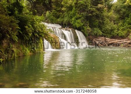 Maraetotara Falls scenic reserve Hawkes Bay North Island New Zealand - stock photo