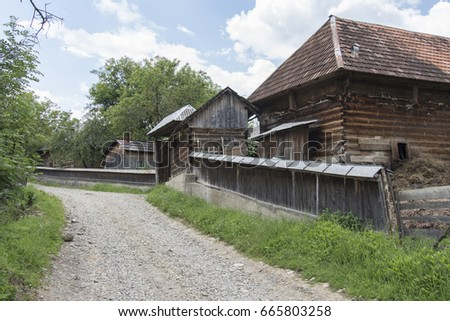 Maramures romania stock images royalty free images vectors shutterstock - Houses maramures wood ...