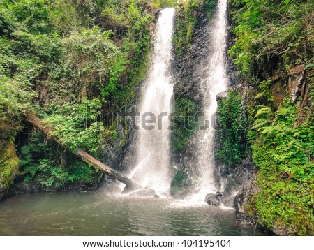 Marangu waterfalls near Kilimanjaro mountain in Tanzania
