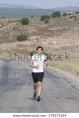 Marathon man  - stock photo