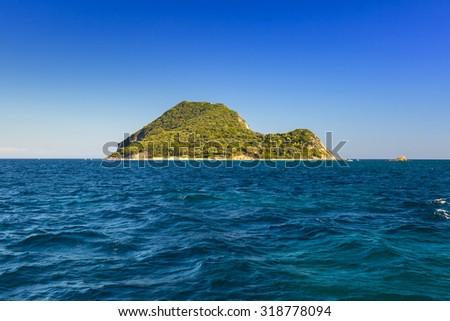 Marathonisi turtle island on Zakynthos, Greece - stock photo