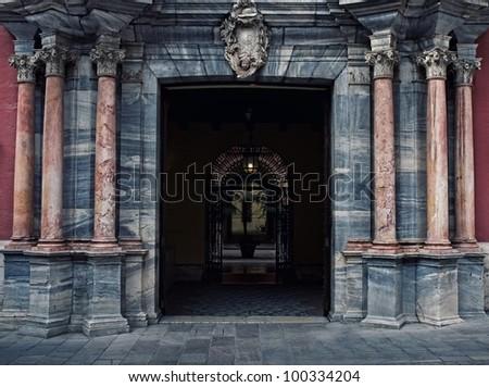Marble arch, Malaga. - stock photo