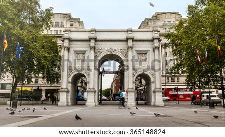Marble Arch monument in London, UK - stock photo