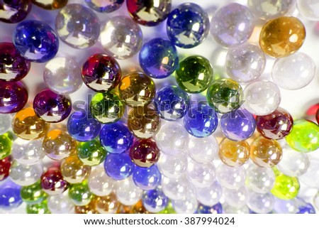 marble ball color full hard light background - stock photo