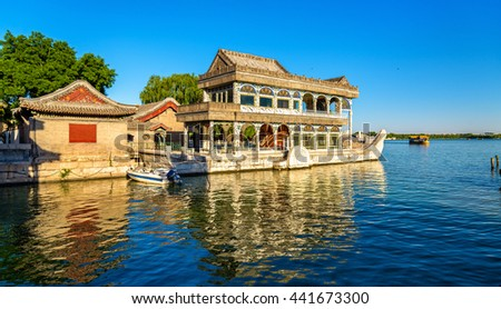 Marble Boat at the Summer Palace in Beijing, China