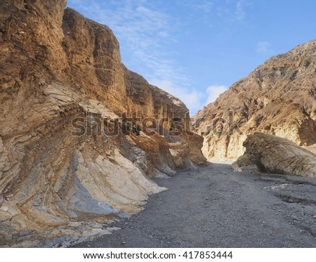 Marble Canyon in Death Valley National Park, California - stock photo
