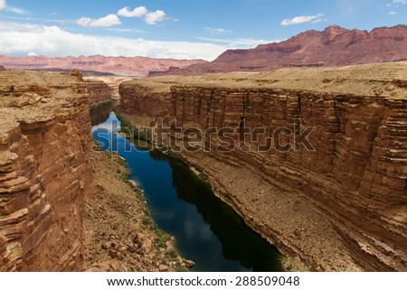 Marble Canyon is a beautiful scenic attraction for many traveling the roads of Arizona - stock photo
