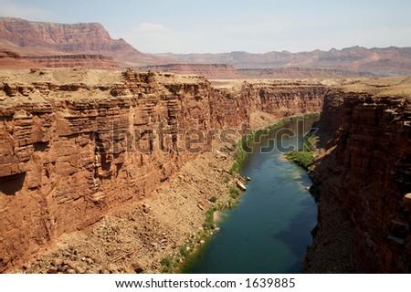 Marble Canyon of the Colorado River - stock photo