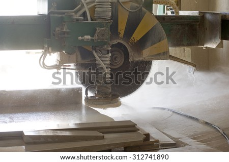 marble cutting factory - industrial