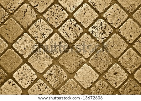 Marble floor background. Sepia version
