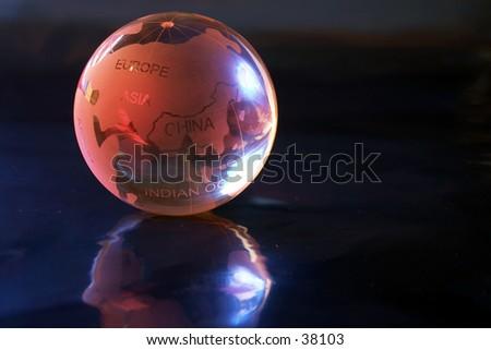 Marble globe - stock photo