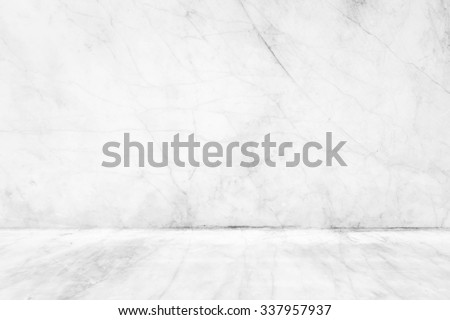 Marble pavement with white wall.