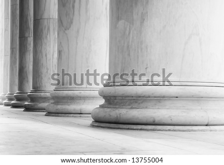 Marble pillars - can illustrate strength, government, history, etc.