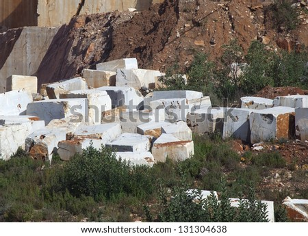 marble quarry - stock photo