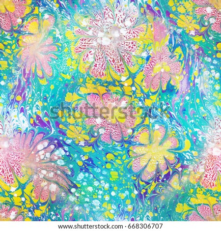 Marble seamless texture pattern.  Abstract colorful paint background.