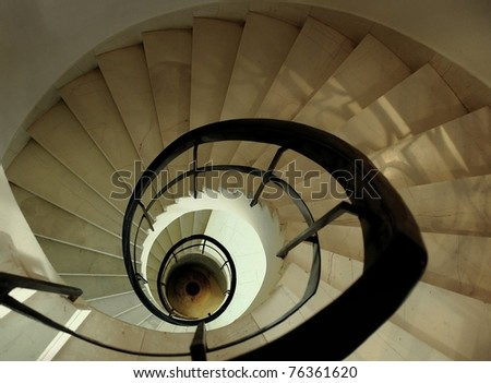 Marble spiral stairs from top