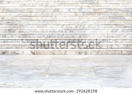 Marble stairs - stock photo