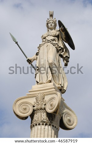 marble statue of the goddess Athena