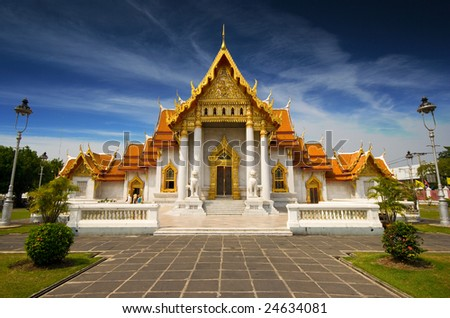 Marble Temple in Bangkok, Thailand