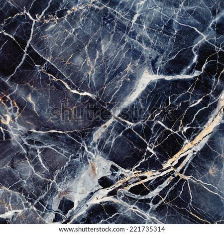 Marble texture. Black and blue stone background. Caribbean Portoro Marble. Michelangelo. Quality stone texture with deep veins. High resolution. - stock photo