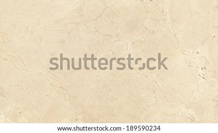 Marble texture, yellowish beige stone background. Crema Marfil  - stock photo