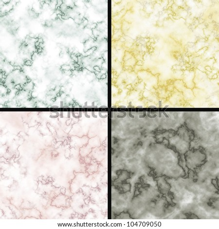 marble wall textures abstract backgrounds collection - stock photo