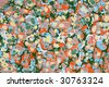 Marbled paper artwork - stock photo