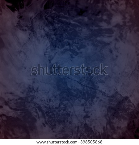 marbled textured background, glossy glass pattern of wavy texture shapes, dark blue black color - stock photo