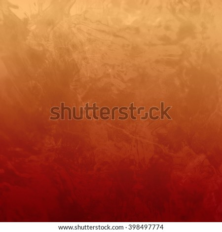 marbled textured background, glossy glass pattern of wavy texture shapes, gold orange and brown color hues of autumn - stock photo