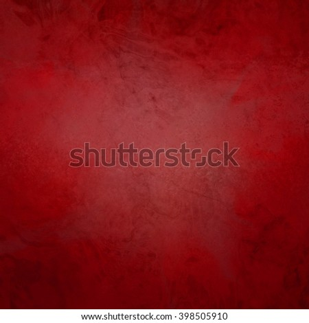 marbled textured background, glossy glass pattern of wavy texture shapes, red Christmas color - stock photo