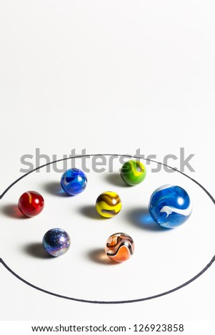 Marbles Circle - stock photo