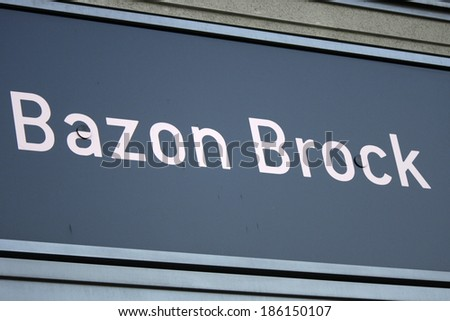 "MARCH 20, 2014 - BERLIN: the logo of the brand ""Bazon Brock"", Berlin."