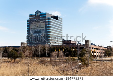 March 24. 2014. Chrysler Headquarters and Technology Center in Auburn Hills, Michigan. USA.
